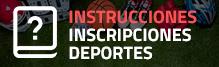 Inscripciones Deportes